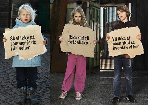 Barn som vokser opp i fattige familier, blir ofte ekskludert sosialt.